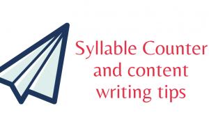 syllable counter
