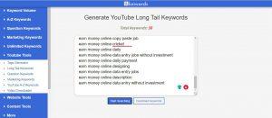 long tail keywords youtube