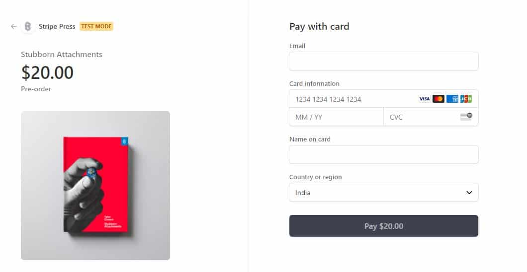 Stripe Checkout Integration With Strong Customer Authentication